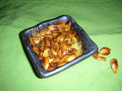 roasted squash seeds