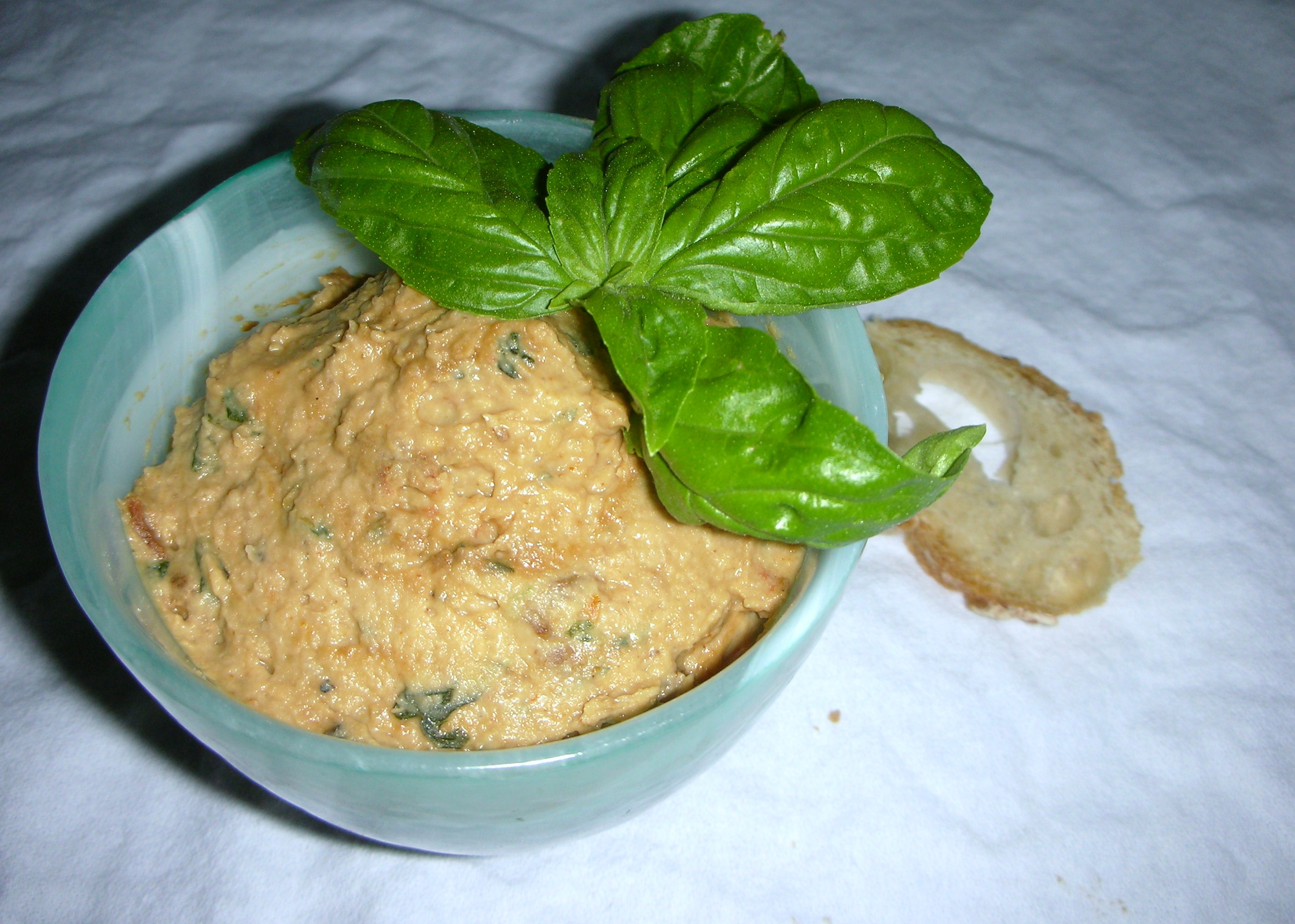 cannellini bean spread with sun-dried tomato and basil