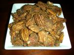sugared and spiced pecans, ready to munch