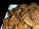 sugared and spiced pecans