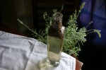 after 20 minutes, the lavender is beginning to infuse