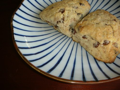 cinnamon chocolate scones