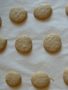 amaretti, fresh from the oven