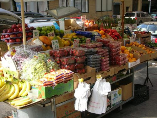 corner fruit (and vegetable) stand