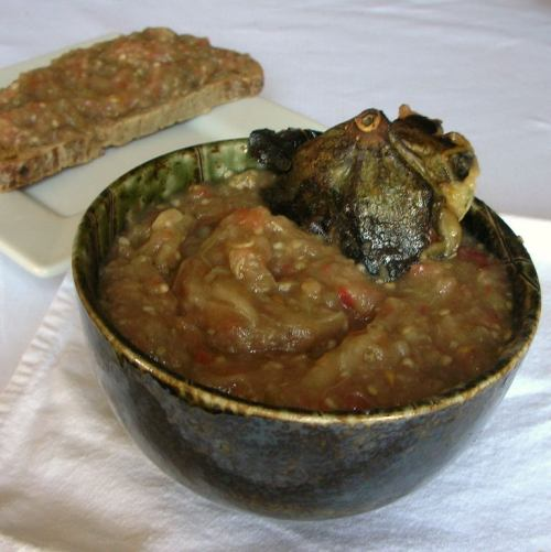 Romanian-style Roasted Eggplant Salad