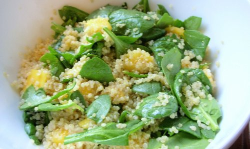 quinoa mango salad with lime cumin dressing