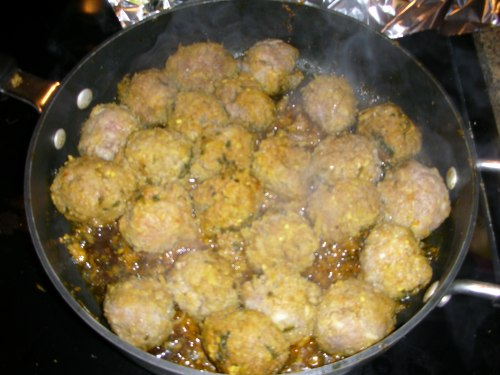 Sunset meatballs