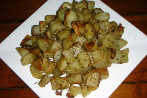 roasted floral potatoes