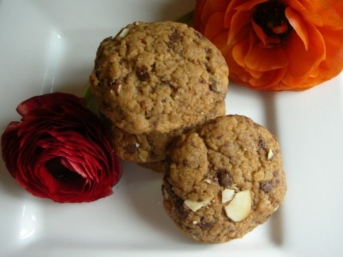 pile o' cookies with ranunculus