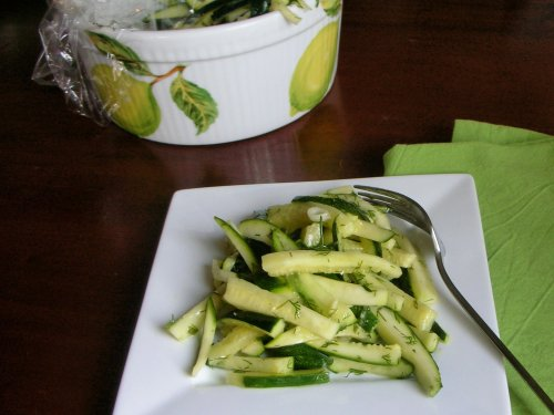 marinated zucchini with lemon and white wine vinegar (no mushrooms)