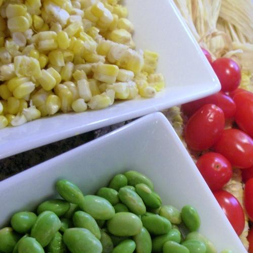 corn edamame tomatoes
