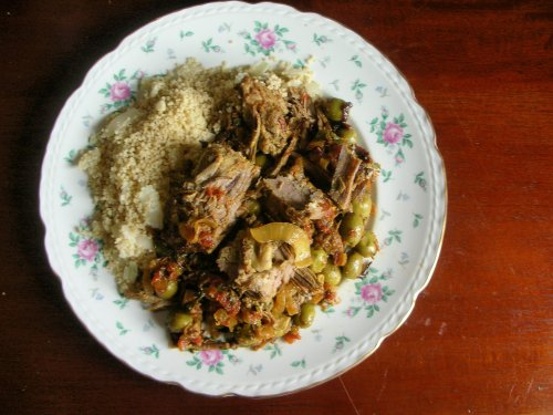 Rebbetzin's Roast with couscous