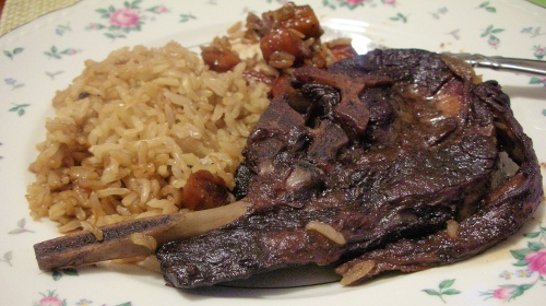 spoon lamb with brown rice
