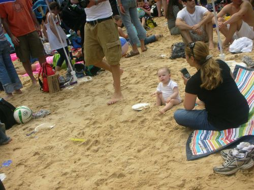 "baby on ""beach"""