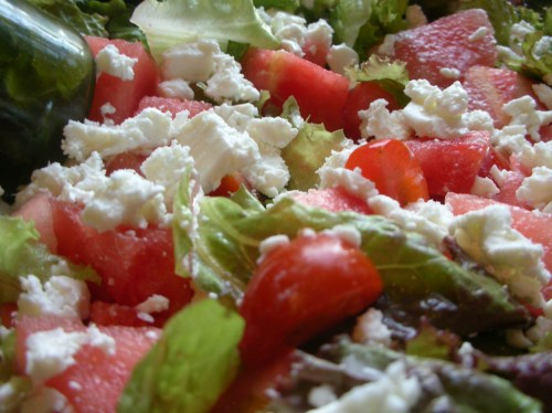 Watermelon Feta Salad close-up