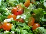 pea shoots, tomato, and corn off the cob