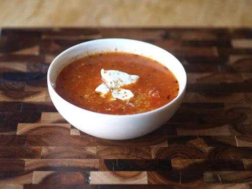 tomato couscous soup