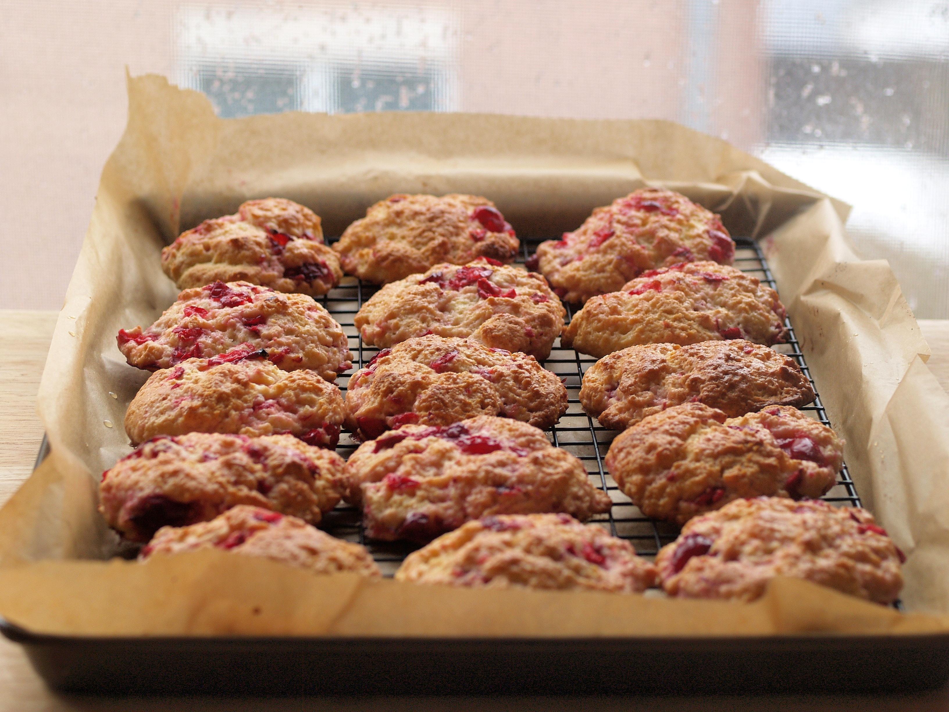 meyer lemon and fresh cranberry scones