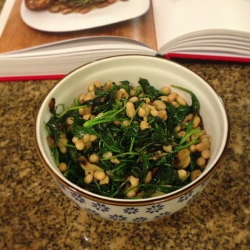 kale and beans, dinner