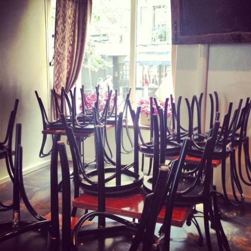 Bala chairs in the morning