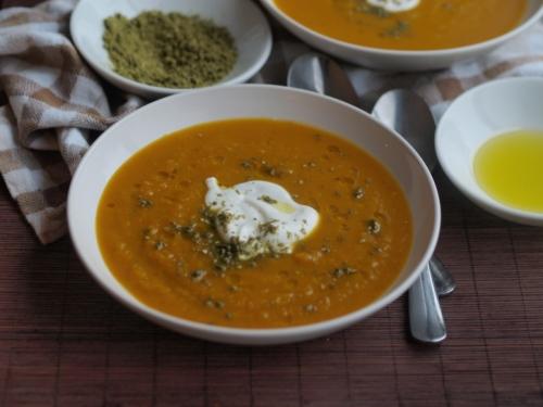 Butternut squash and saffron soup (Einat Admony/Balaboosta)