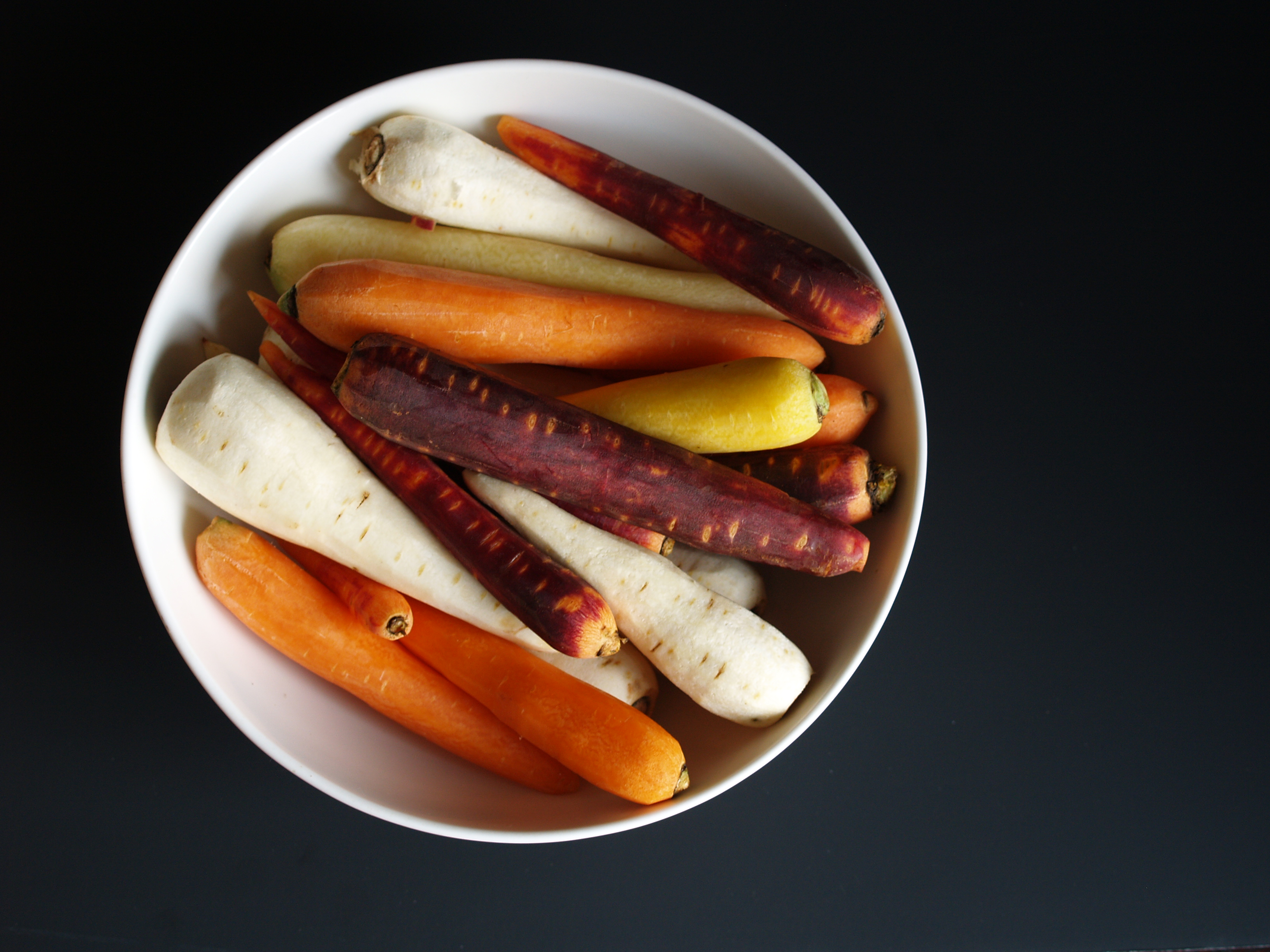 Rainbow carrots and parsnips