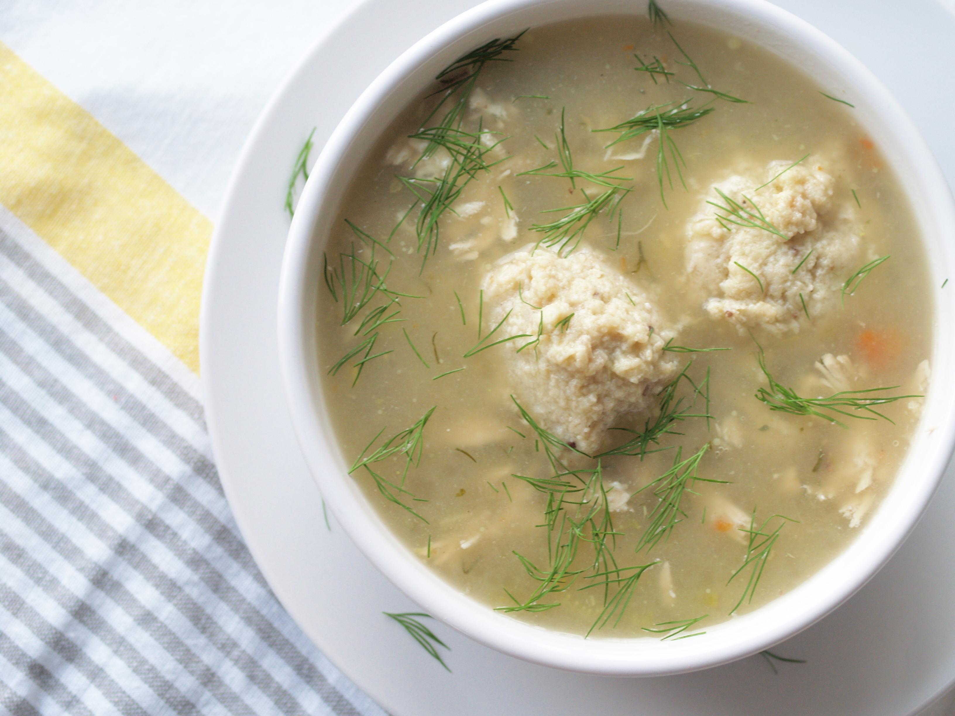 my mom's matzah ball soup