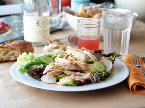 Buvette Roast Chicken Salad with haricots certs and mustard vinaigrette