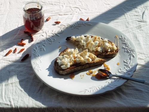 hot silane on feta toast, in the shadows