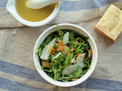 arugula with anchovy dressing