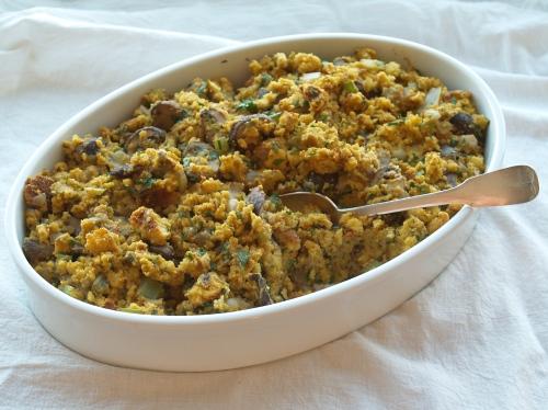 parve cornbread mushroom stuffing